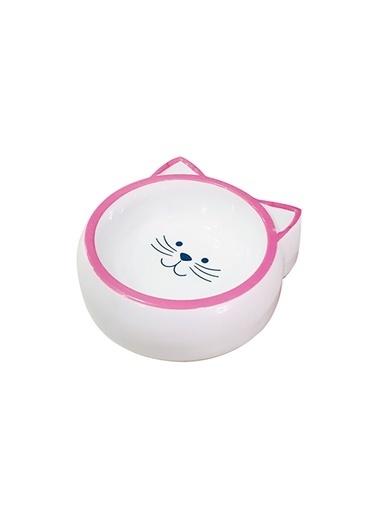 JBL Melamin Mama Kabı Kedi Suratı Şeklinde Pembe 210Ml Renkli